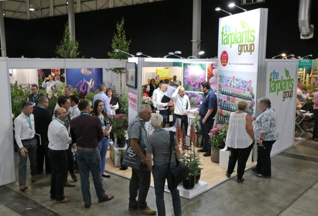 Busy Farplants stand with New plant award winners